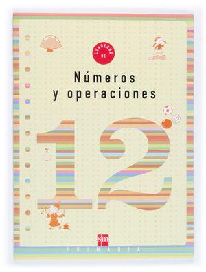 CUADERNO 12 DE NÚMEROS Y OPERACIONES. 4 PRIMARIA