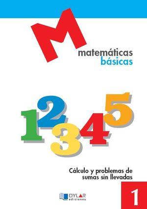 MATEMATICAS BASICAS - 1 CALCULO Y PROBLEMAS DE SUMAS SIN LLEVADAS