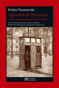 APUNTES DE INVIERNO SOBRE IMPRESIONES DE VERANO